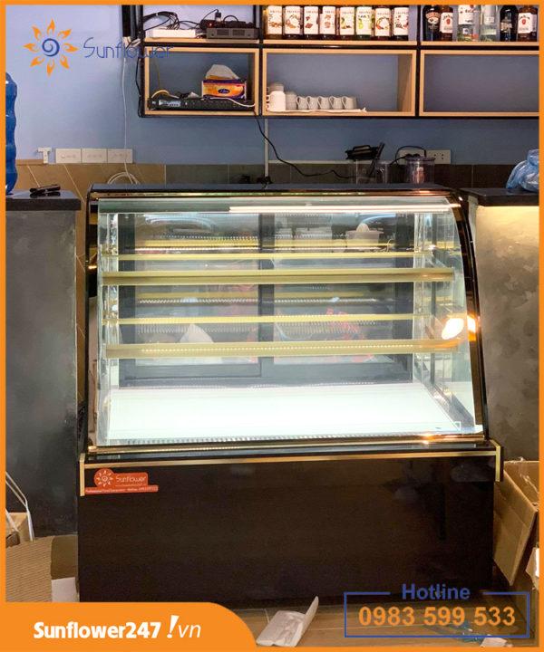 Tủ trưng bày bánh kính cong 3 tầng