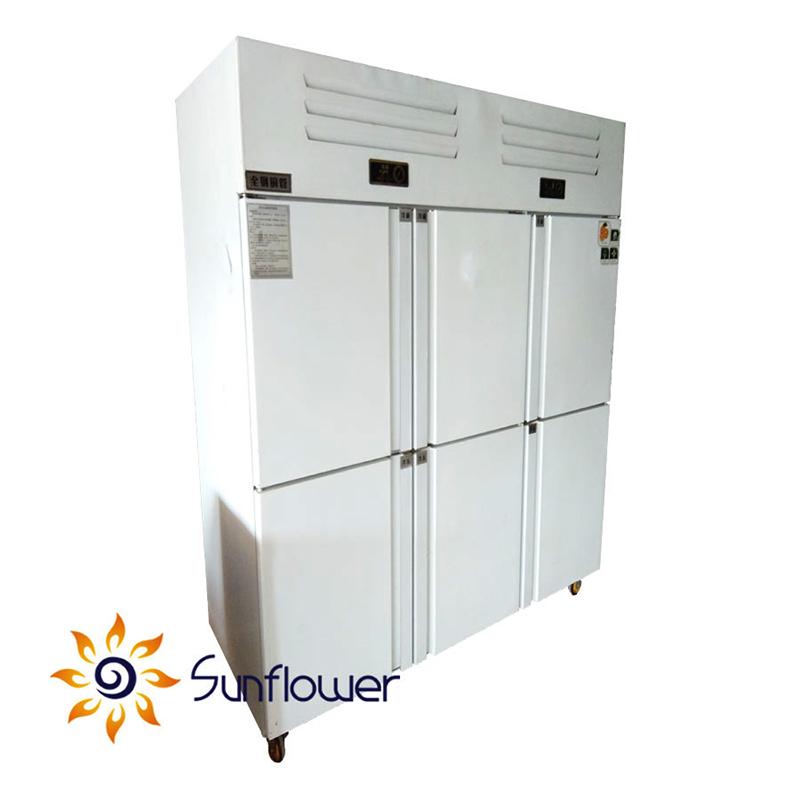 Tủ bảo ôn dạng đứng 6 cánh dùng để bảo quản thực phẩm, đồ uống và bia trong hệ thống bếp nhà hàng, khách sạn