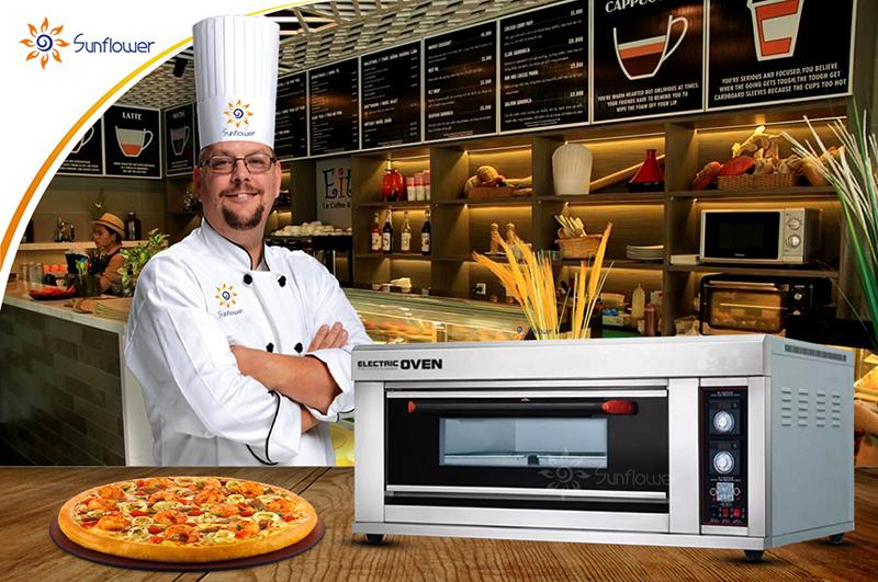 Lò nướng pizza 1 tầng rất được ưa chuộng tại các nhà hàng, tiệm bánh.