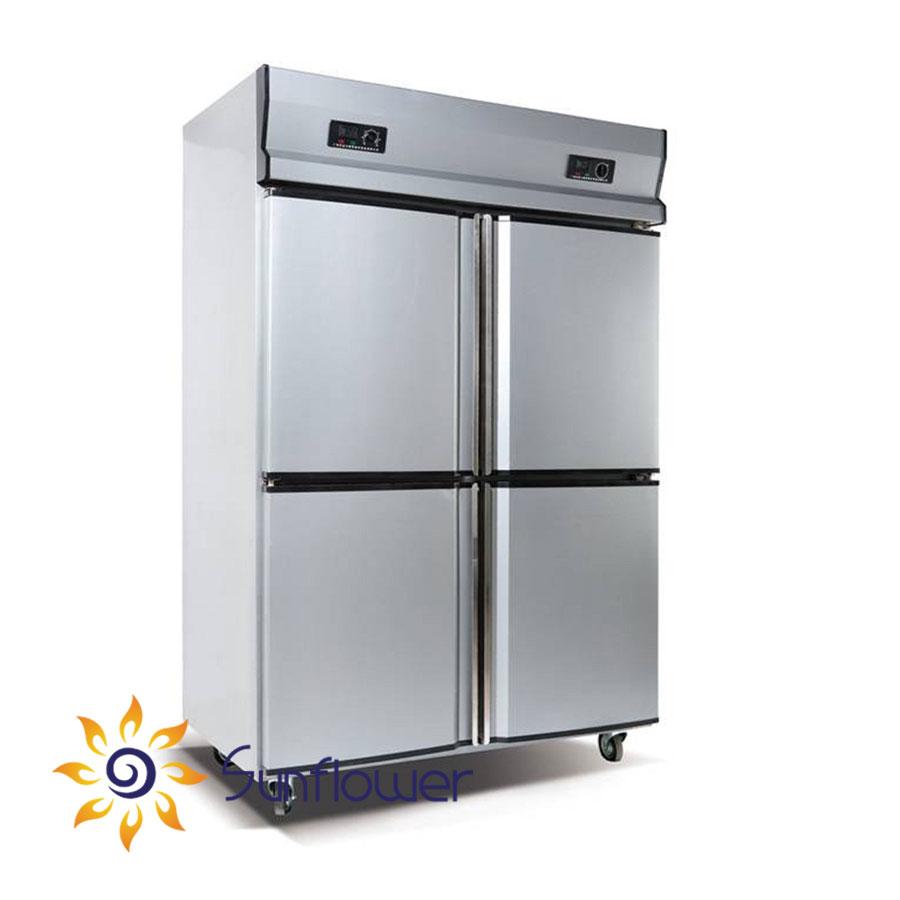 Tủ bảo ôn 4 cánh được cấu tạo từ chất liệu cao cấp nên bền bỉ với thời gian