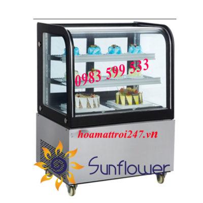 tủ bánh kem để bàn nhỏ gọn, tiết kiệm được không gian và có thể dễ dàng sắp xếp và trang trí theo nhu cầu của khách hàng
