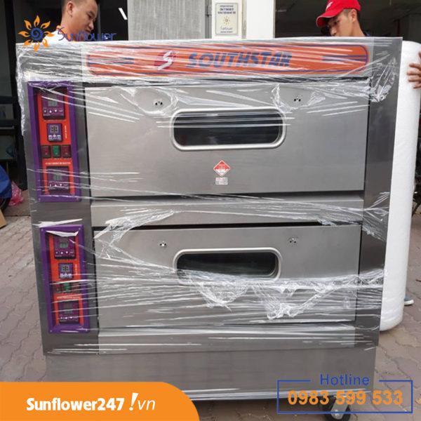 Lò nướng 2 tầng 4 khay Southstar được làm từ chất liệu cao cấp inox, cực bền bỉ.