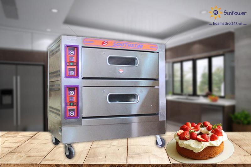 Lò nướng bánh 2 tầng 4 khay southstar được sử dụng rộng rãi tại các nhà hàng, tiệm bánh...