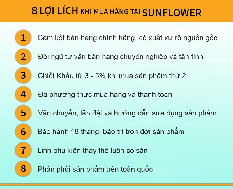 Lợi ích khi mua hàng tại Sunflower