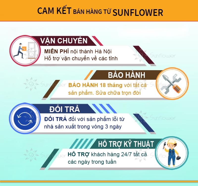 Cam kết bán hàng của Sunflower