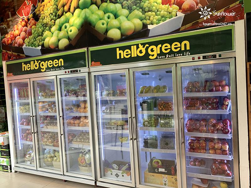 Tủ mát 3 cánh kính bảo quản được các loại trái cây, thực phẩm, nước giải khát, sữa..