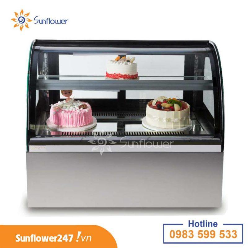 Tủ trưng bày bánh kem để bàn với thiết kế nhỏ gọn, bắt mắt