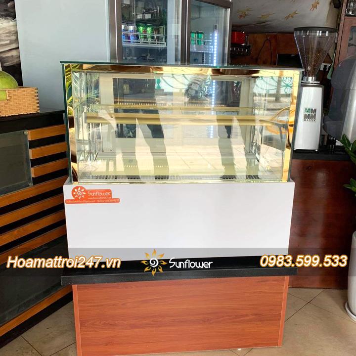 Tủ bánh kem để bàn phù hợp với những tiệm bánh nhỏ, quán cafe, quán karaoke.