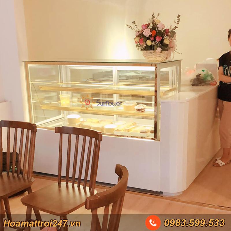 Tủ bánh sinh nhật kính vuông