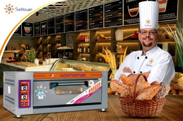 Lò nướng bánh gato 1 tầng 2 khay SouthStar được đông đảo các cơ sở làm bánh lựa chọn