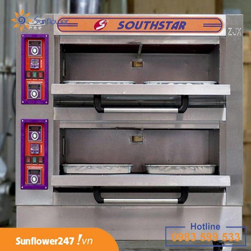 Lò nướng 2 tầng 4 khay cho số lượng bánh nhiều gấp đôi lò 1 tầng