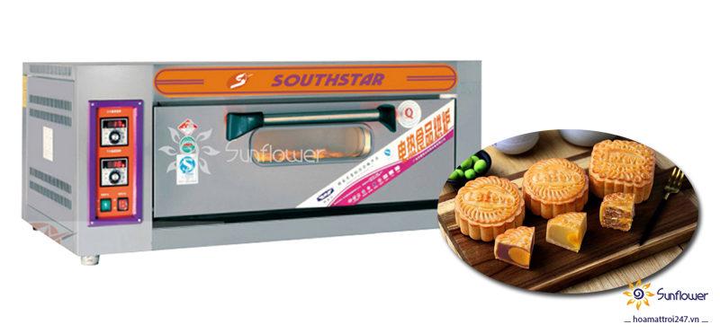 Lò nướng 1 tầng 2 khay phù hợp cho các cơ sở làm bánh có quy mô nhỏ và vừa
