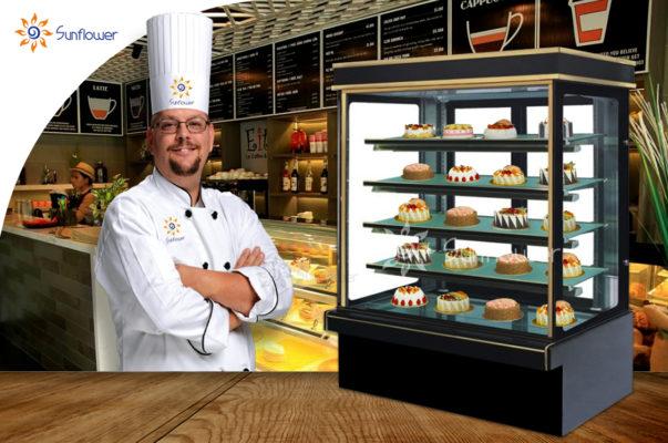 Tủ trưng bày bánh kem 5 tầng chính hãng Hoa Mặt Trời