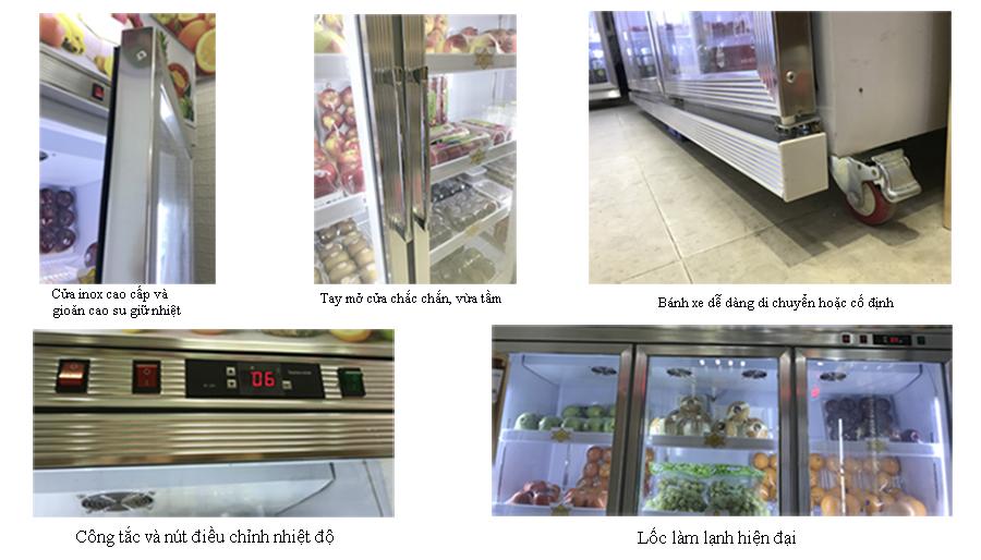 Tất cả các chi tiết trên tủ bảo quản 3 cánh đều rất ưu việt, tiện lợi và thông minh