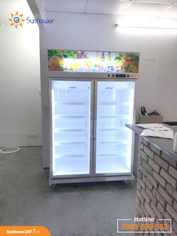 Quý vị hoàn toàn có thể mua được những chiếc tủ mát 2 cánh cao cấp với mức giá rẻ nhất tại Hoa Mặt Trời