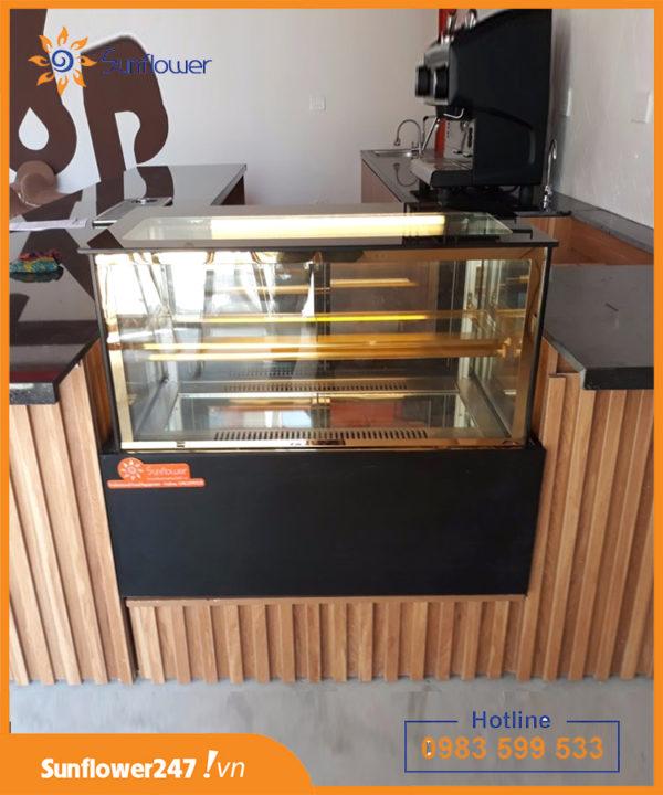 tủ bánh kem mini 2 tầng nhỏ gọn
