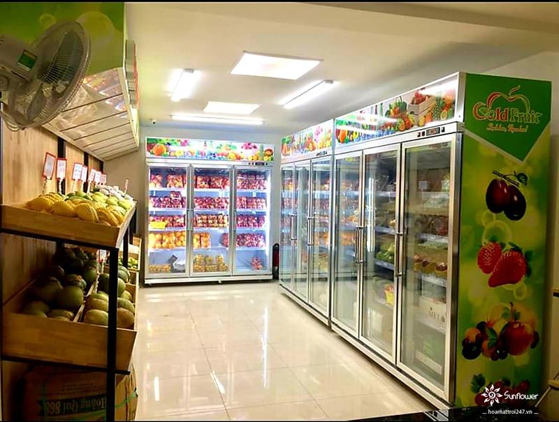Lắp đặt hệ thống tủ mát trưng bày trái cây tại GoldFruit Tô Hiệu