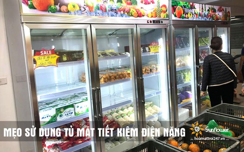 Mẹo sử dụng tủ mát trưng bày trái cây tiết kiệm điện năng