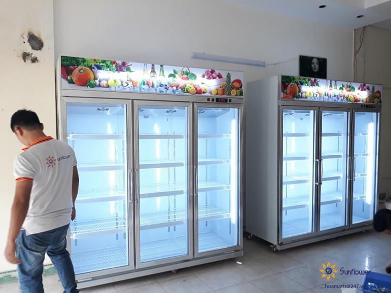 Lựa chọn kích thước tủ mát 3 cánh giá rẻ phù hợp sẽ giúp không gian cửa hàng cực ấn tượng và thu hút