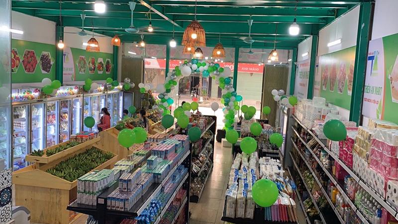 Siêu thị Thiên An, Bắc Giang có diện tích trưng bày khá lớn và đa dạng sản phẩm