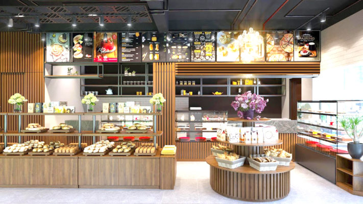 vị trí đặt tủ trưng bày bánh kem hiệu quả