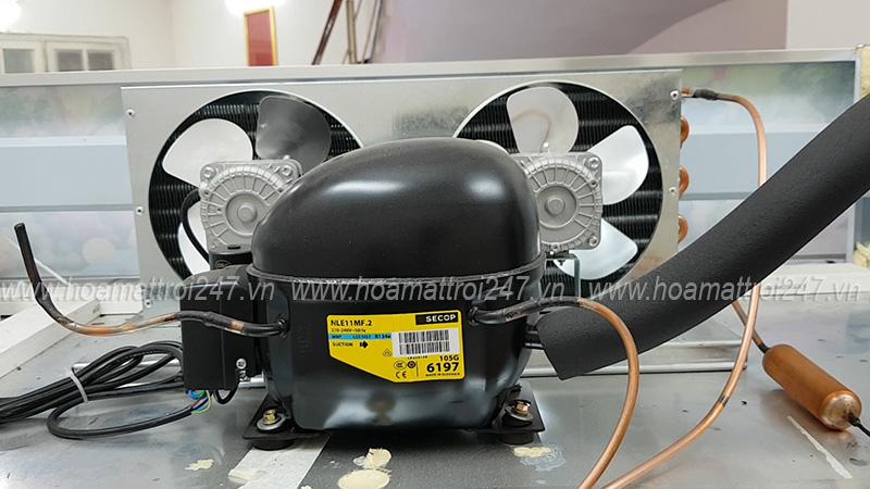 Lốc làm lạnh Secop hiện đại bậc nhất hiện nay, làm lạnh nhanh và rất tiết kiệm nhiên liệu