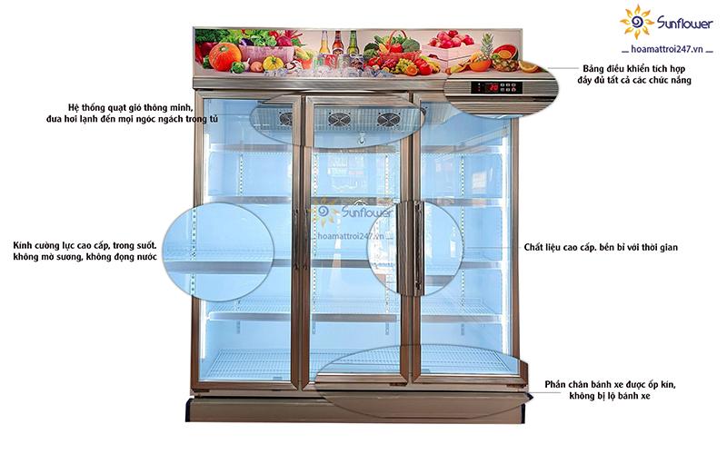 Tủ làm mát 3 cánh kính SFLC-1860F sở hữu nhiều tính năng thông minh, hiện đại bậc nhất.