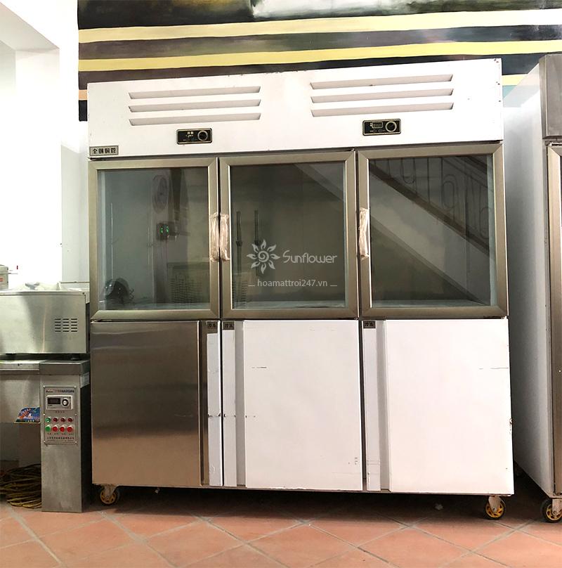 Tủ bảo ôn 6 cánh 2 chế độ Lốc làm lạnh được nhập khẩu nguyên chiếc, khả năng làm lạnh nhanh, tiết kiệm năng lượng.