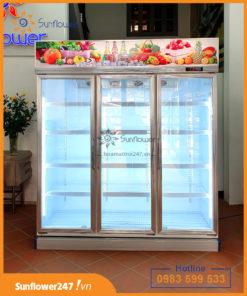 tủ mát 3 cánh trưng bày và bảo quản trái cây