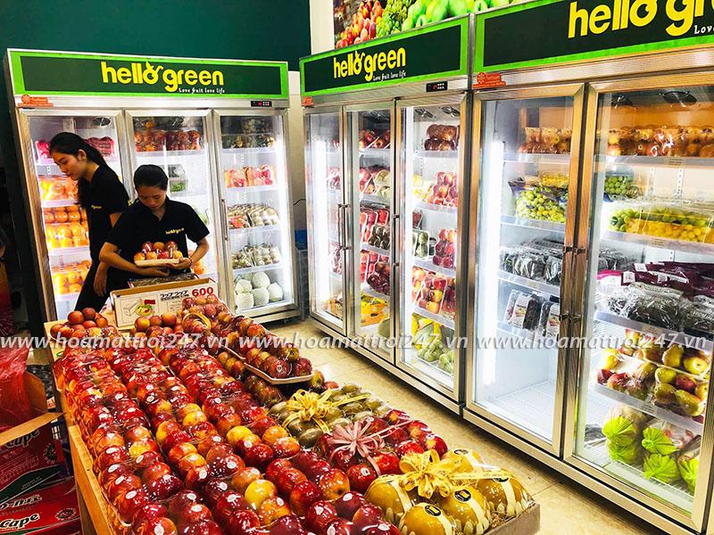 Tiếp tục là Hello Green tại Hà Nội với 3 tủ mát Sunflower dung tích 1650lit