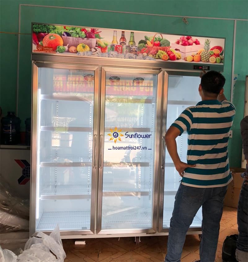 Điều chỉnh nhiệt độ tủ mát đựng hoa quả sao cho phù hợp với số lượng trái cây trưng bày