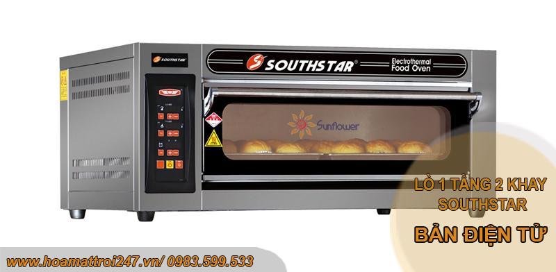 Lò nướng 1 tầng 2 khay Southstar bản điện tử là dòng lò nướng cao cấp, model mới nhất 2020 của Southstar
