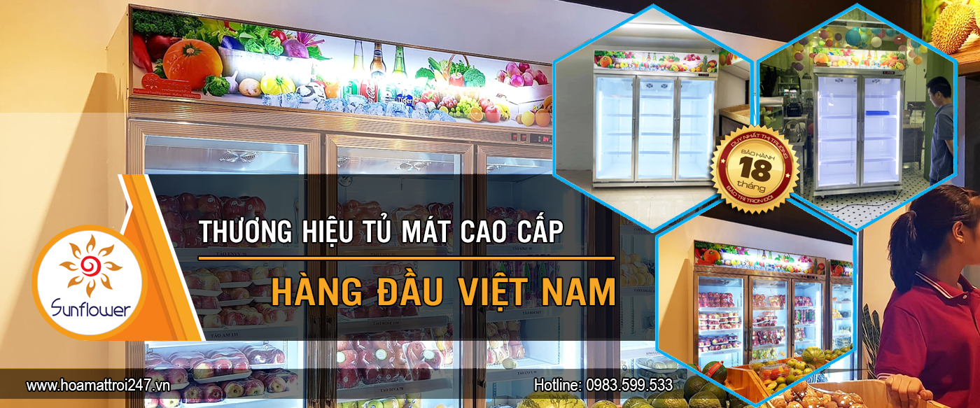 Sunflower thương hiệu tủ mát hàng đầu Việt Nam.