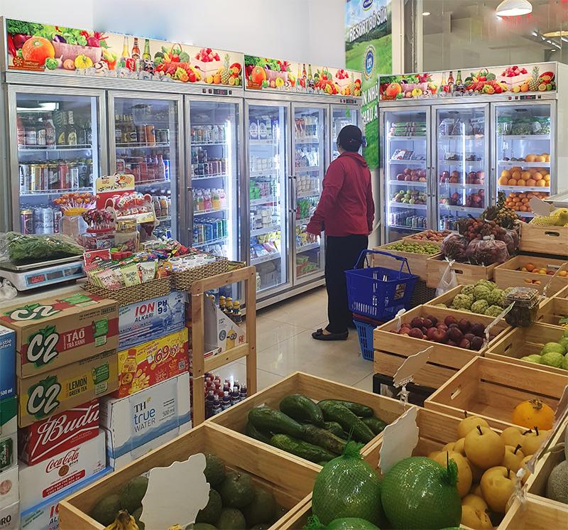 Tủ mát Sunflower cũng được sử dụng phổ biến tại các siêu thị, cửa hàng thực phẩm..
