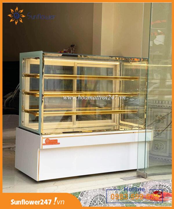 tủ trưng bày bánh kem 4 tầng