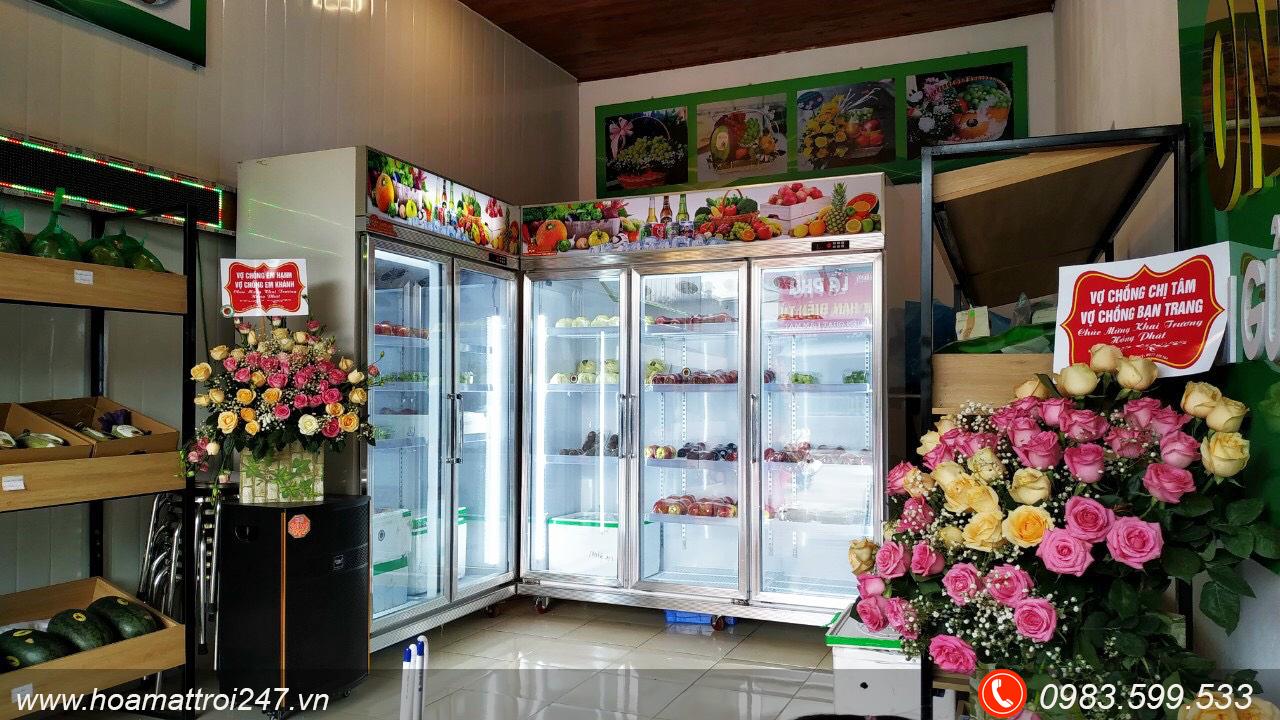 tủ mát hoa quả siêu thị