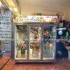 tủ bảo quản và trưng bày hoa tươi